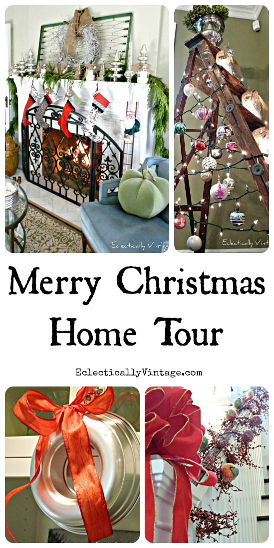 Merry Christmas Home Tour - tons of great Christmas decorating ideas! kellyelko.com