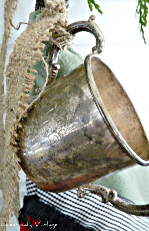 Silver Baby Cup on Christmas Stocking