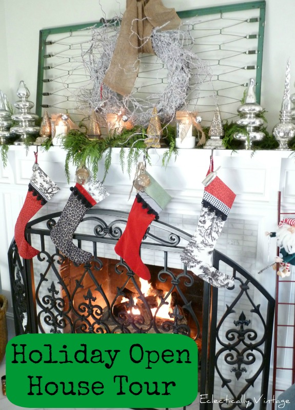 Christmas Open House Tour - filled with tons of unique Christmas decorating ideas!  kellyelko.com