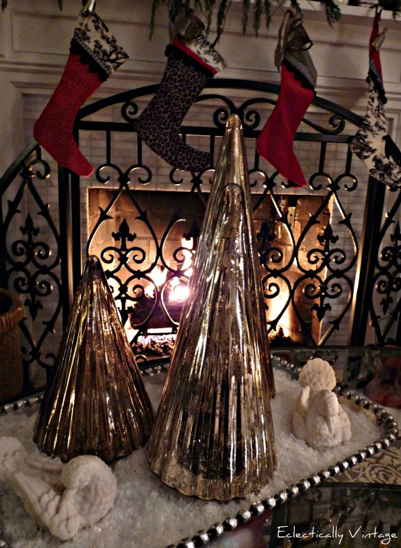 Christmas Fireplace - and Holiday House Tour