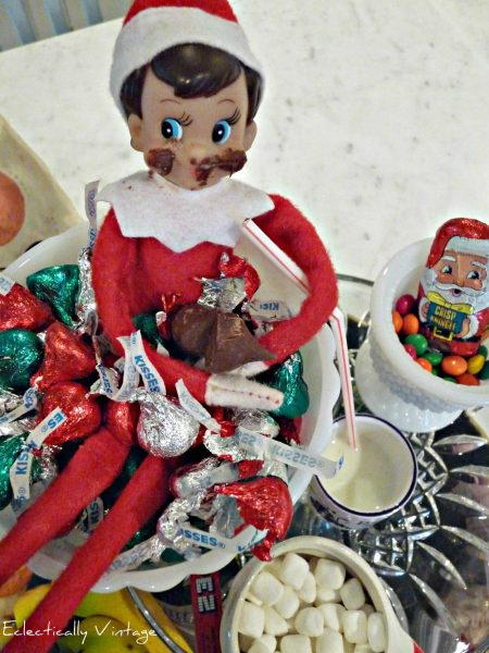 The funniest elf on the shelf ideas ever for Elf on the shelf chocolate kiss