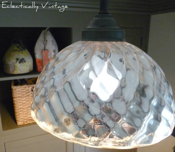 Mercury Glass Light - beautiful in this stunning mudroom kellyelko.com