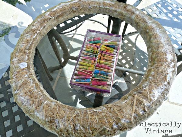Summer Parasol Wreath supplies!  kellyelko.com