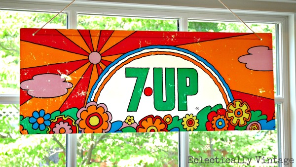 peter max 7up sign