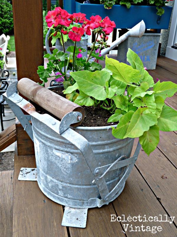 Mop Bucket Planter kellyelko.com