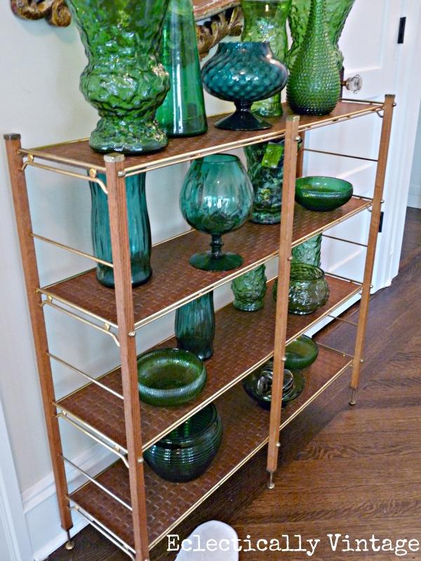 Mid century green glass collection - kellyelko.com