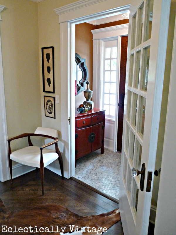 Amazing entry and foyer renovation in this 100 year old home - kellyelko.com