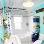 Exceptionally Eclectic – Bold, Bright, Beachy Bathroom
