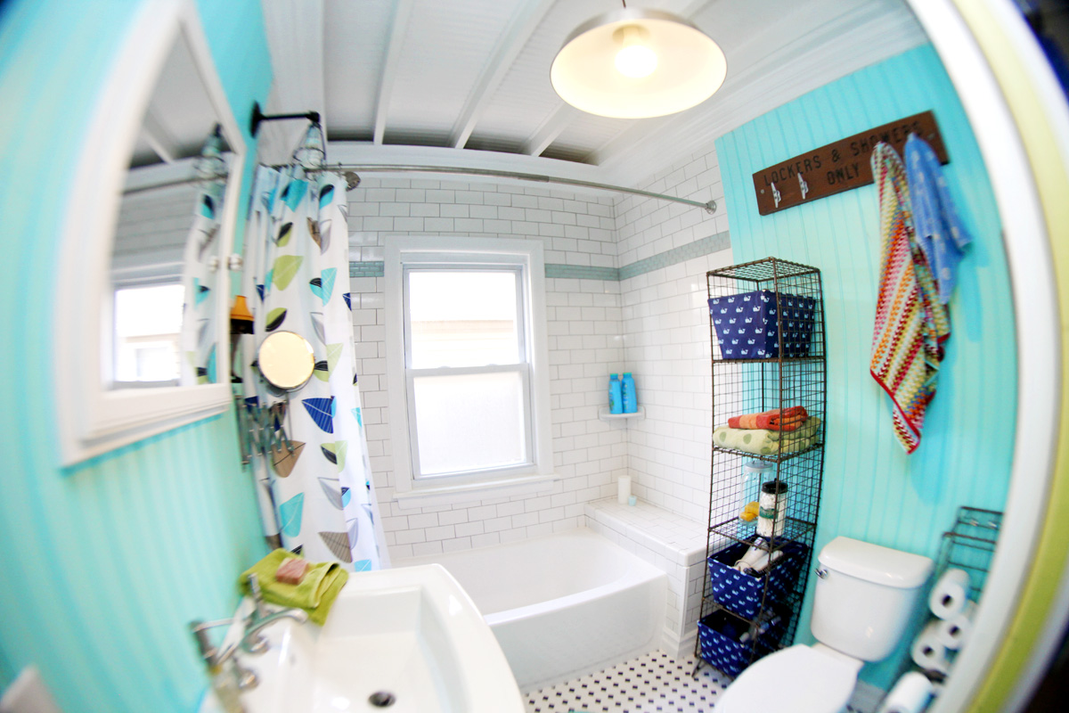 Eclectic House Tour - Beach Bathroom Decor Eclectically Vintage