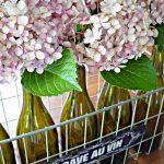Vintage Sign & 5 Bottles of Wine