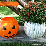 Plastic Pumpkin Ideas – DIY Music Sheet Planter