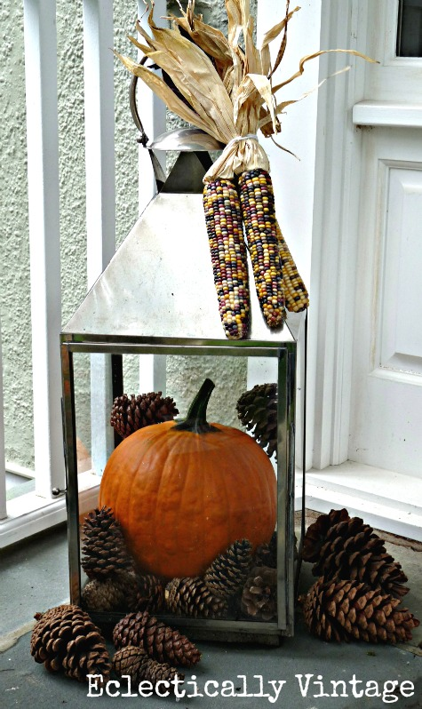 Fall Porch Decorating - tons of great DIY ideas here!  kellyelko.com