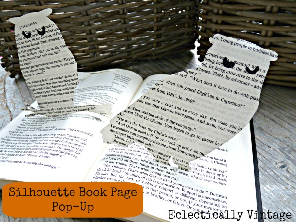 How to make a book page pop up owl.  kellyelko.com