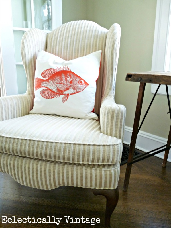 Eclectically Vintage Lava Fish Pillow