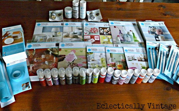 Martha Stewart Crafts supplies - you've got to see what she made with this!  kellyelko.com