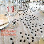 DIY Swarming Spiders Tablecloth