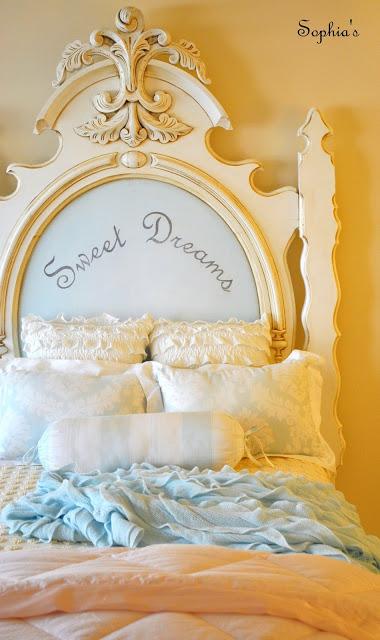 """Fabulous Bedroom with """"Sweet Dreams"""" Headboard"""