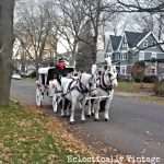 Horse Drawn Carriage White Christmas