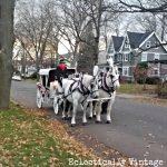 Horse Drawn Carriage White Christmas