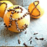Orange Pomander Monogrammed Place Setting