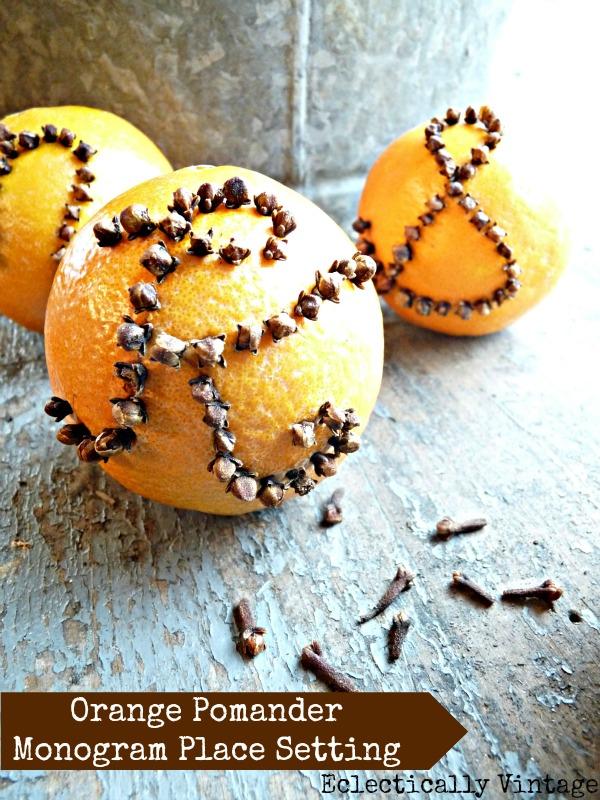 How to make an orange pomander - great for the holidays (and smells divine)!  kellyelko.com
