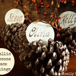 Bring on the Bling – Metallic Pinecone Place Settings