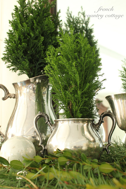 Mini trees in vintage silver