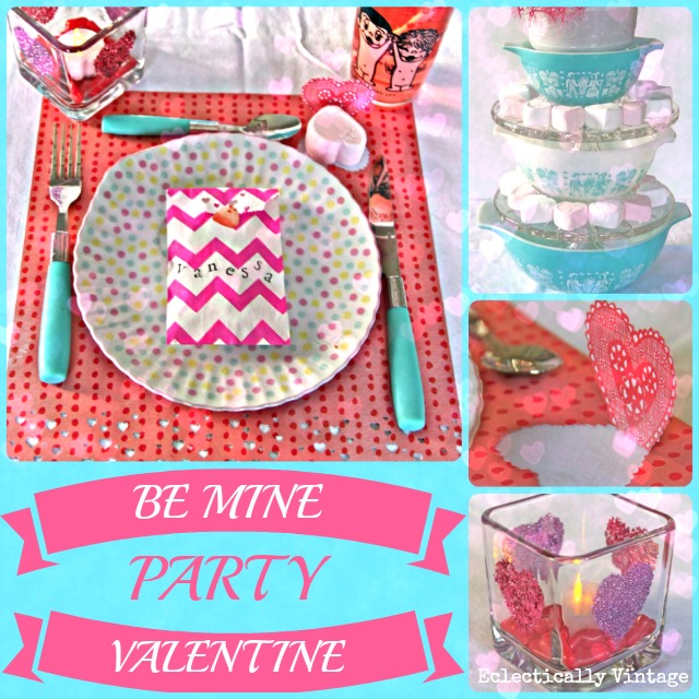 Fun Valentine Party Decorations you can make! kellyelko.com