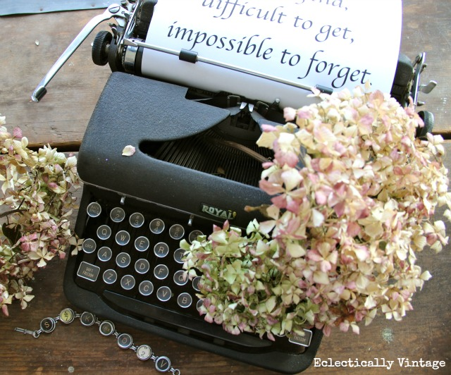 For the Love of a Typewriter
