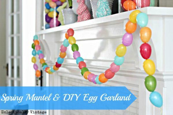 Make an Easter Egg Garland - so fun!  kellyelko.com