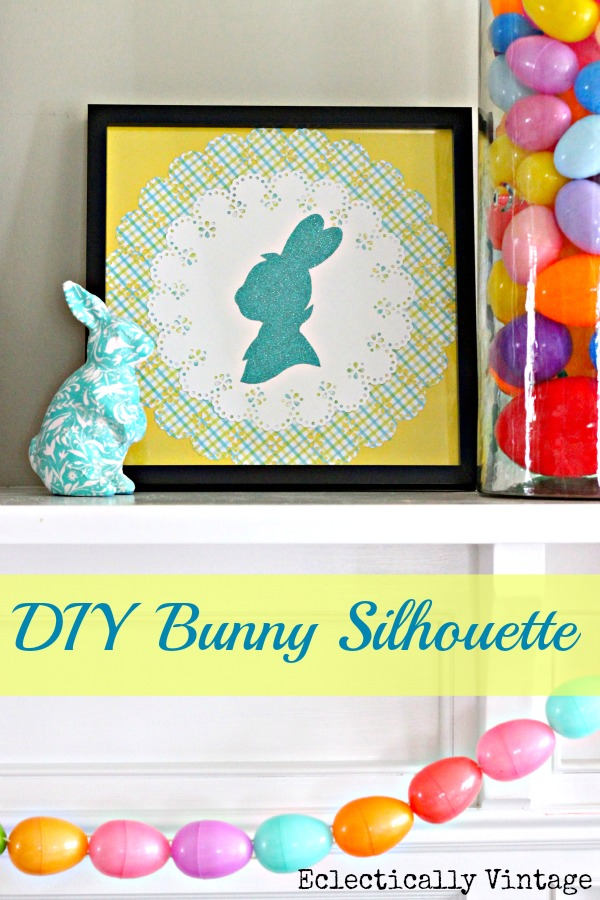 Make this cute Peter Cottontail bunny silhouette kellyelko.com