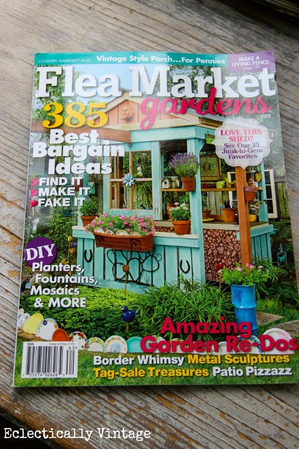 I'm in Flea Market Gardens Magazine & a Giveaway!