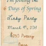 5 Creative Spring Projects, a Link Party & $250 Pottery Barn Gift Card Giveaway