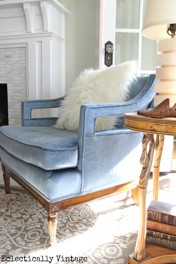 Eclectically Vintage decorating with blue