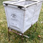 Score!  Lucky Vintage Canvas Laundry Bin