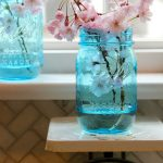 Mason Jar Window Treatment & New Blue Mason Jars Giveaway!