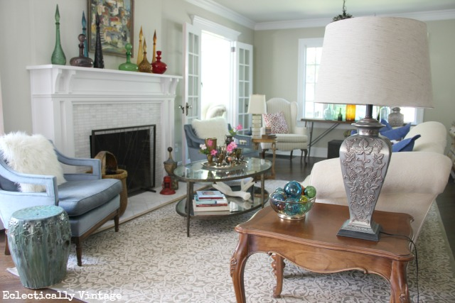 One Room - Three Ways!  Check out 21 uniquely decorated rooms from 7 Fabulous Bloggers!  kellyelko.com
