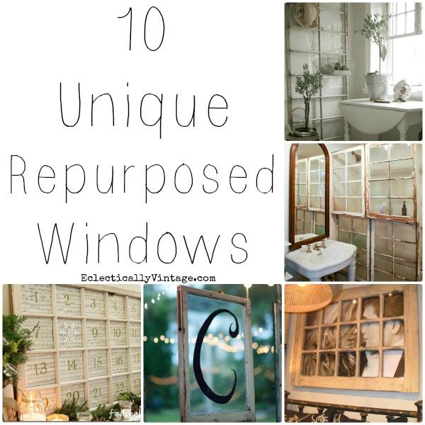 garage window curtain ideas - 10 Unique Repurposed Windows
