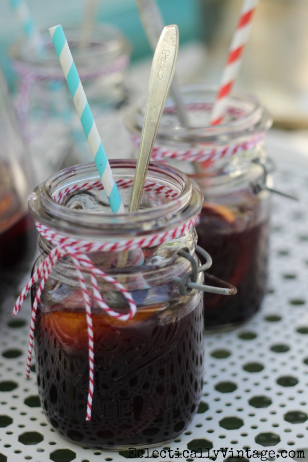 Best Ever Summer Sangria Recipe - it's pure perfection - Cheers!  kellyelko.com