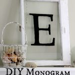 DIY Antique Monogrammed Window