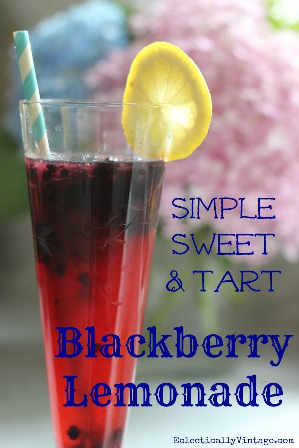 Simple Sweet & Tart Blackberry Lemonade Recipes
