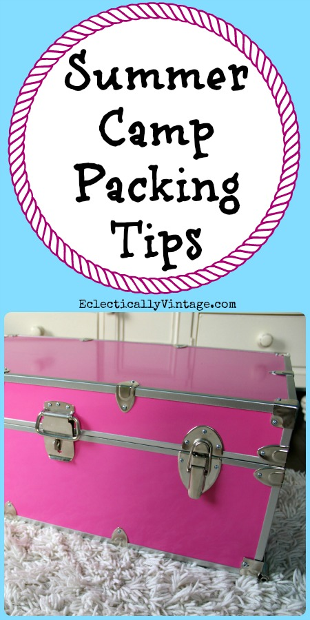 Summer Camp Packing Tips - everything you need to have a very happy camper! kellyelko.com #camping #summercamp #camp #packingtips