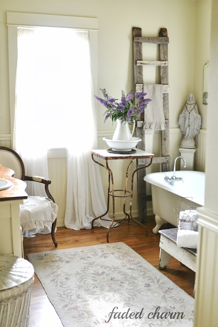 Country Cottage Bathroom - love the details