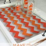 How to Paint Chevron the Easy Way – Antique Window Tray Tutorial