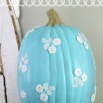 Make It:  Decoupage Lace Pumpkin