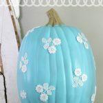 Make It:  Decoupage Lace Pumpkin