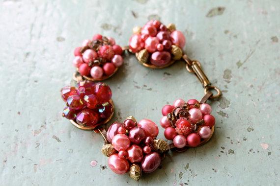 Bel Monili vintage cluster bracelet