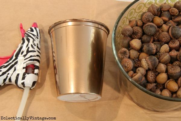 Acorn Craft Supplies - make an acorn vase! kellyelko.com