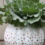 How to Make a Bling Plastic Pumpkin Planter