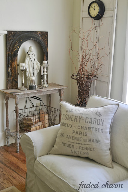 Cottage living room filled with fabulous vintage pieces